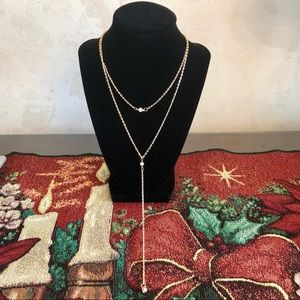 Jewelry - NWT Gold Double Layered Necklace